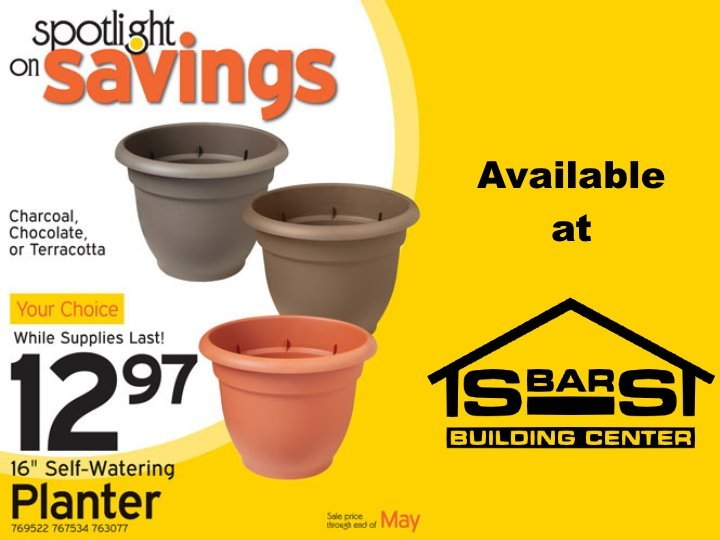 16 inch plastic planters for $12.97.