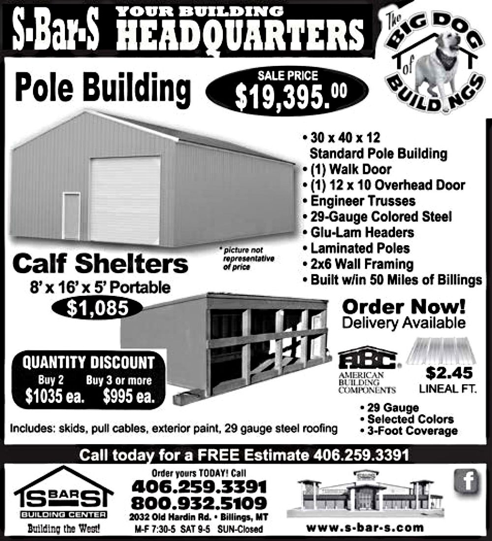$19,395.oo for a 30'x40'x12' standard pole building.