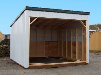 Metal sided range shelter that can be bought as a kit.